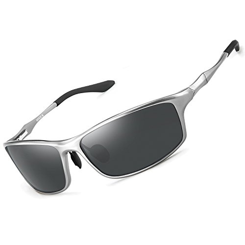 SOXICK Polarized Sunglasses for Men Women - Adjustable Metal Frame Driving ()