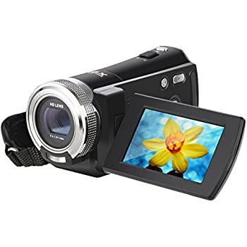 Video Camcorder, Besteker 1280x720P Camera Camcorder 16X Zoom 16MP Video Camera with 2.7 inches TFT LCD Screen Support 270 Degree Rotation