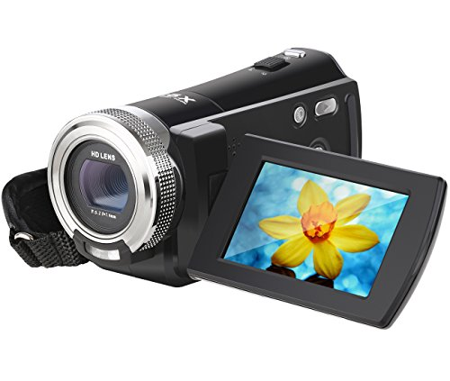 Digital Camcorder, Besteker 720P HD Video Camcorder 16X Zoom 16MP Video Camera with 2.7 inches TFT LCD Screen Support 270 Degree Rotation by Besteker