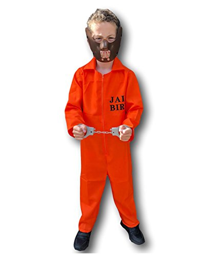 Rubber Johnnies New Orange Prisoner Jumpsuit Costume, Hannibal , Convict, (6-9 Years)]()