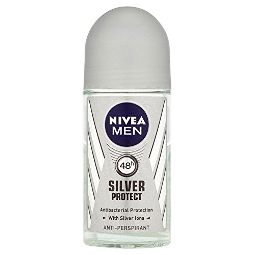 Nivea Men Silver Protect Anti-Transpirant Deodorant Roll-On (50 ml) - Packung mit 6