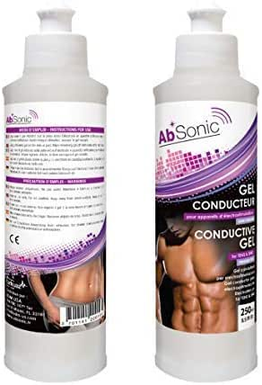 AbSonic - Conductive Gel for Electrodes, TENS & EMS - 2 x 250 ml (2 x 8.5 oz)