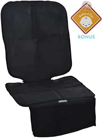 Alphabetz Deluxe Car Seat Protector with Full Padded Protection, Black