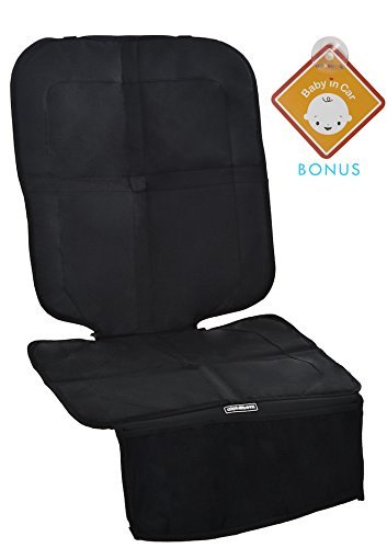 Alphabetz Deluxe Car Seat Protector with Full Padded Protection, Black by Alphabetz
