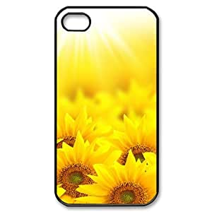 Iphone 4,4S 2D Custom Hard Back Durable Phone Case with sunflower Image