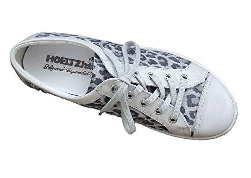 HOELTZhaus Sneaker Leder Grau Weite H Leomuster