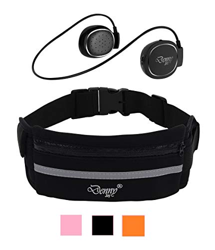 On Ear Wireless Sports Headset with Waist Pack Gift Set- Cordless Headphones Bluetooth with Bonus Fanny Pack Running Bag -Bluetooth Headphone Set with Pouch to Hold iPhone 6, 6S, 7,8 Samsung Galaxy