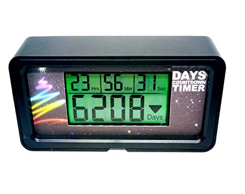 Jayron Digital 9,999 Day Countdown Clock Timer Days with Green Backlight for Retirement Wedding Vacation Christmas Event Classroom