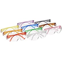 Gateway Safety Colorful StarLite Gumballs Safety Glasses, All Colors Included (Pack of 10) Adult & Youth Sizes
