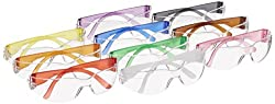 Gateway Safety 3699 Colorful Starlite Gumballs Safety Glasses, Small, All Colors Included (Pack Of 10)