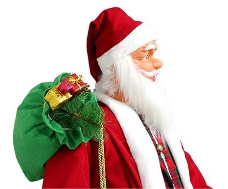 [lux.pro] Papá noel 200cm - canta y baila - con sensor de movimiento - Navidad: Amazon.es: Hogar