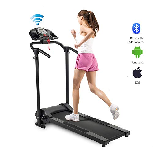 ZELUS Folding Treadmill Electric Motorized Running Machine with Downloadable Sports App Control Walking & Running OR Treadmill Mat, Cup Holder, MP3 Player & Wheels Easy Assembly – DiZiSports Store