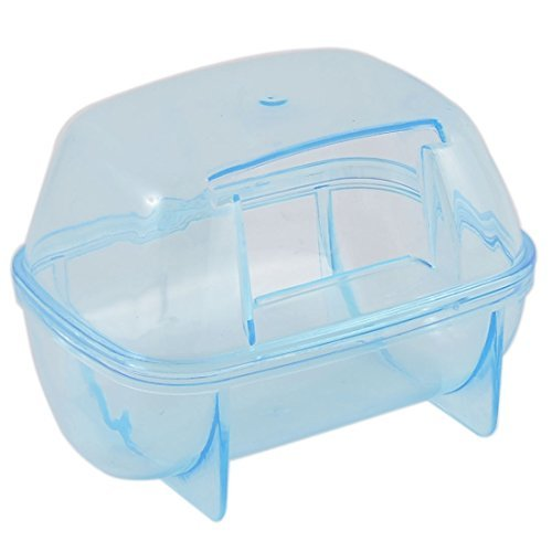 DealMux Mice Pet Gerbil Hamster Sand Bathroom Sauna Toilet Case Cage Box 2pcs