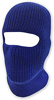 Double Layered Knitted One Hole Ski Mask - Assorted Colors Tactical Paintball Running