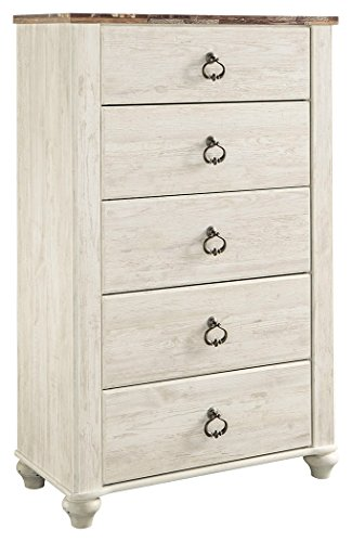 Ashley Furniture Signature Design - Willowton Chest of Drawers - Contemporary Dresser - Two-Tone (Ashley Furniture Bedroom)