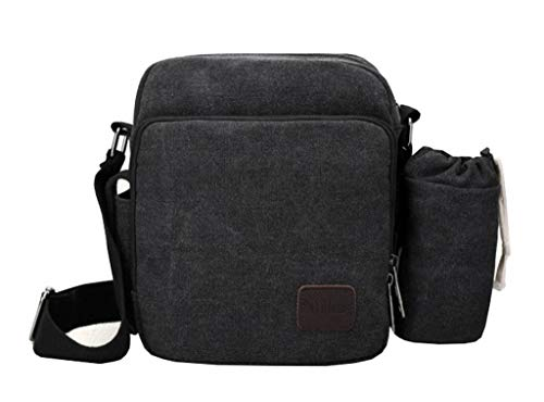 Multi Shoulder 7kinds Bags Men's Black Canvas pocket Handbag Comvip Style4 Purse Crossbody ZRgqw6B