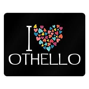 Idakoos I love Othello colorful hearts - Male Names - Plastic Acrylic