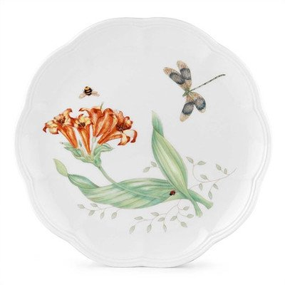 "Lenox Butterfly Meadow Dragonfly 9"" Accent Plate, Set of 4"