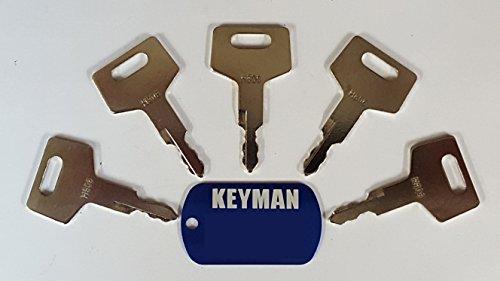 5 Keyman Takeuchi Equipment Keys-Ignition key for Gehl, Hitachi, Mustang, New Holland, Takeuchi, Part Number H806 from Keyman