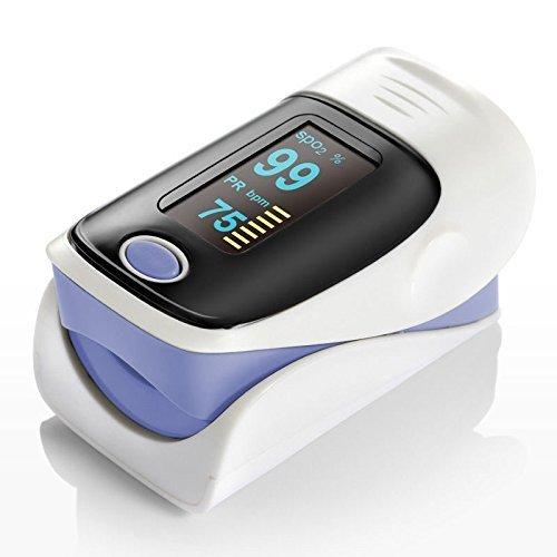 QUMOX Fingertip Blood Oxygen Meter OLED Pulse Heart Rate Monitor Oximeter