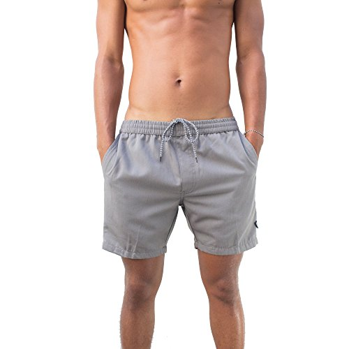 Molokai Mens In Motion Twill Elastic Waist Short (Medium, (Girls Flare Leg Twill Pants)
