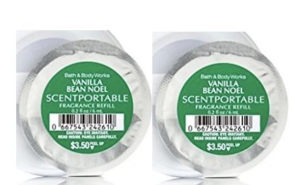 Bath and Body Works Vanilla Bean Noel Fragrances Scentportable Refill Discs. 2 Pack. 0.2 oz each disc.