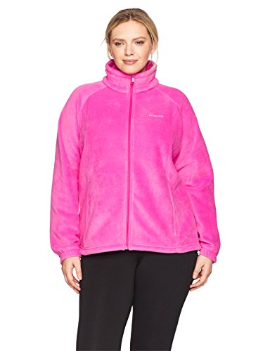 Columbia Women's SizeTested Fz Plus Size Tested Tough in Pink Benton Springs Full Zip Jacket, Ice, 2X