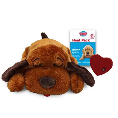 SmartPetLove Snuggle Puppy Behavioral Aid Toy, Brown Mutt