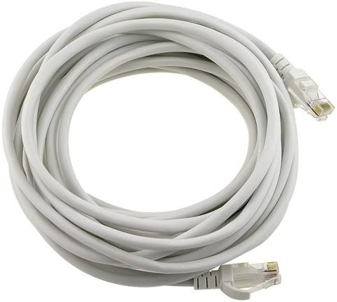 internet Cable with Rj45 Connectors-100 Feet Gray Ethernet Cable Cat5 Cat5E RJ45 100ft with Cable Clips EpicDealz Network Cable Cat 5E Ethernet Patch Cable