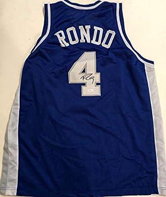 Rajon Rondo Autographed Signed Kentucky Wildcats Custom XL Jersey With - JSA Authentic Memorabilia Witness Coa Blue