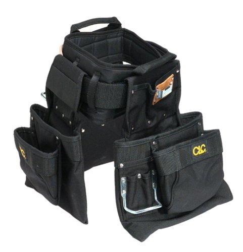 Review CLC Custom Leathercraft 5605M Professional Carpenters Combo, Black, 18-Pocket