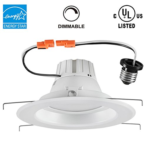 Led Recessed Lighting Kit 5000k : Pcs inch watt k dimmable led downlight recessed