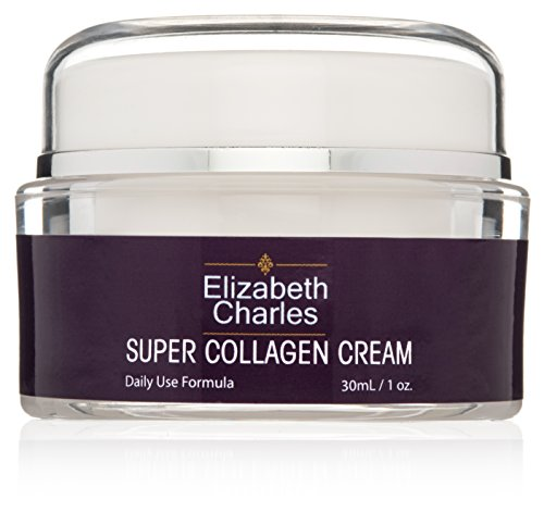 Elizabeth Charles Super Collagen Cream with Peptides and Amino Acids. Improve the Appearance of Fine Lines and Wrinkles. Maintaining Elasticity Keeping the Skin Firm & Supple. Paraben Free. Super Amino Acids