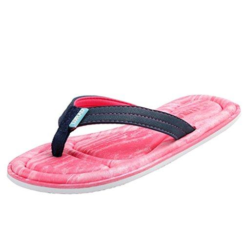Sandales Femmes Plage Désinvolte Bout Tongs De Ouvert Baymate Pink Chaussures Z8dfq