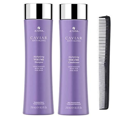 New Alterna CAVIAR Anti-Aging Multiplying Volume Duo 8.5 Oz Each With Free Comb (Alterna Caviar Shampoo Volume)