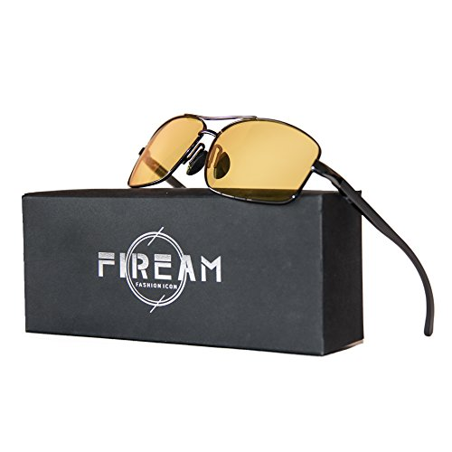 Mens Womens Classic Retro Polarized Sunglasses Metal Frame Night Driving Rectangular Sun Glasses for - Night Glasses Driving Polarized