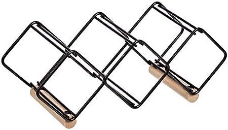 Botellero de mesa de metal para organización y almacenamiento,Su diseño geométrico forma unos huecos