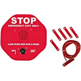 Safety Technology International, Inc. STI-6402 105 dB Exit Stopper Multifunction Door Alarm for Double Doors with on/off Switch and 9 Volt Battery