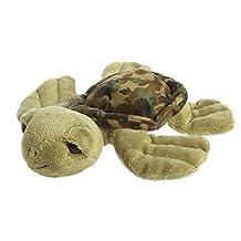 """Green Camo Turtle 7.5"""" Stuffed Animal"""