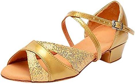 SONIGER ʕ•ᴥ•ʔ Womens Dance Shoes Fashion Princess Glitter Tango Ballroom Latin Wedding Pumps for Kids Girls Ladies – The Super Cheap