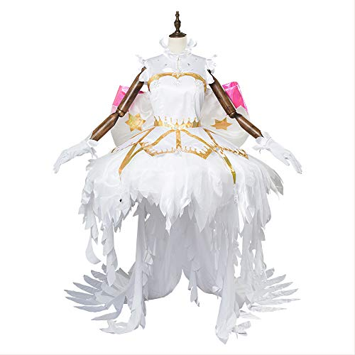 fanituhan カードキャプターさくら クリアカード編 コスプレ 冰雪の天使 木之本桜 コスプレ 衣装 女性M