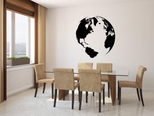 - Earth Globe Vinyl Wall Decal Sticker Graphic