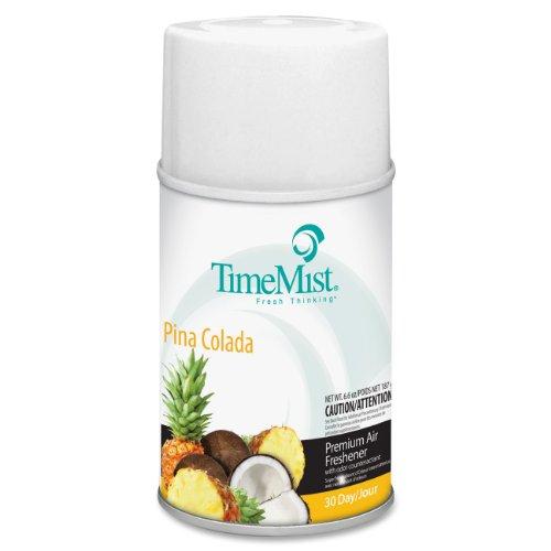 TimeMist 1042690EA Metered Fragrance Dispenser Refill, Pina Colada, 6.6 oz, Aerosol