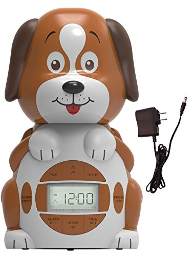 (Big Red Rooster BRRC101AC Dog Projection Alarm Clock, Operates On An AC Adaptor (Included) or 3 C Batteries)