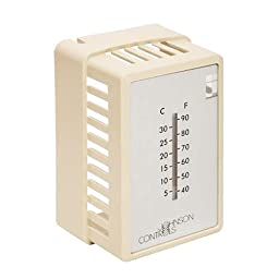 Beige Thermostat Cover Plate Assembly- Exposed setpoint- with ¡ãF/¡ãC thermometer (Vertical Mount)