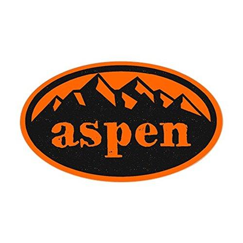 CafePress Aspen Hand Draw Orange Sticker (oval) Oval Bumper Sticker, Euro Oval Car Decal