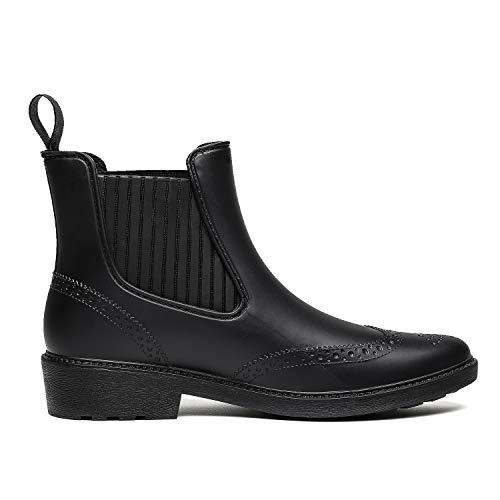 Chelsea Pluie Chaussures Imperméables Rain De Boots Putu Noir Bottes Bottines Femme qU1InEwzf