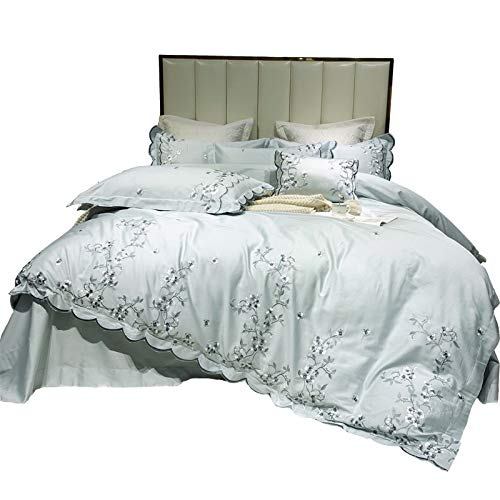 YLAAA SHEET & PILLOWCASE SETS Four Piece Full Bed Setbed Covers Double Set Hypoallergenic Cotton European Style Bedroom Bed Cover Bedding Set (Size : 200cm230cm)