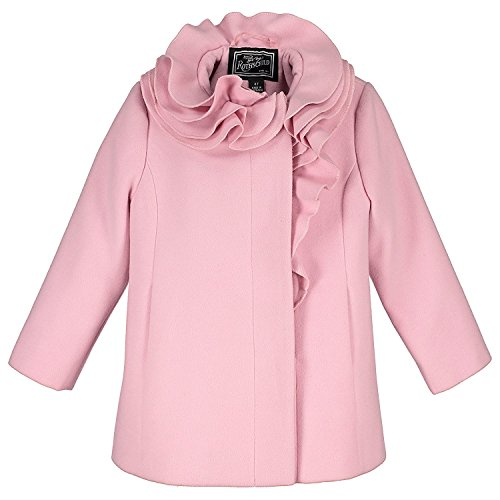 Rothschild Girls Coats - Rothschild Little Girls Coat Stylish and Comfortable Wool Jacket Perfect Gift for Back to School Birthdays or Any Occasion (3T, Pink)