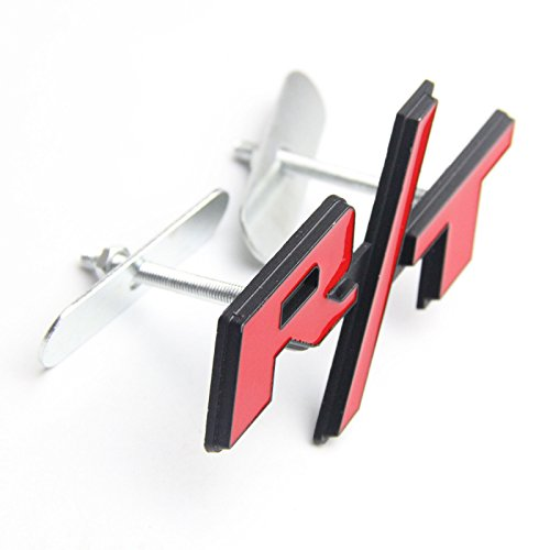 Btopars Metal Red RT R/T Black Outlining Badge Front Grille Emblem For Dodge Charger Challenger Ram Avenge (Challenger Ram)
